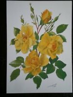 POSTCARD YELLOW ROSE JEAN GLAZEBROOK - MEDICI SOC