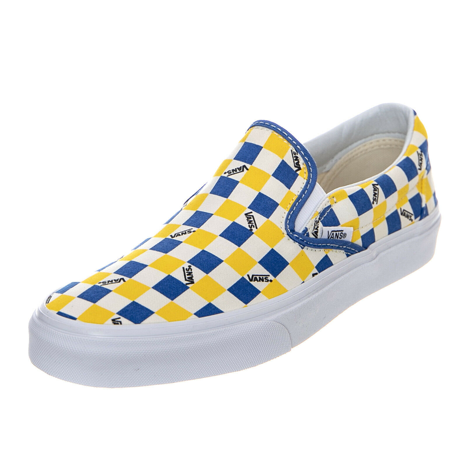 Vans Ua Classic Slip-On Heritage Marshmallow bluee Yellow slip-on Man Multicolour