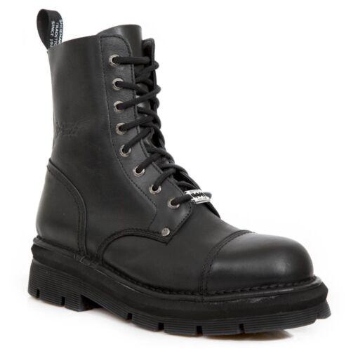 New Rock New Mili 083 S14 Black Gothic Boots Military Unisex 8 Hole Biker Shoes