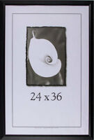 24x36 Black Wood Frames - Black Series Wide