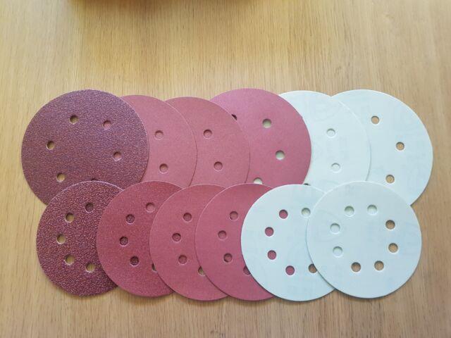 125mm 5inch Sanding Discs Pads MIRKA fits Hitachi Metabo Makita Bosch Sanders