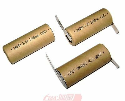 16x LiFePO4 LiFe 26650 3.2V 2300mAh  Rechargeable Battery HP 20C/46A discharging