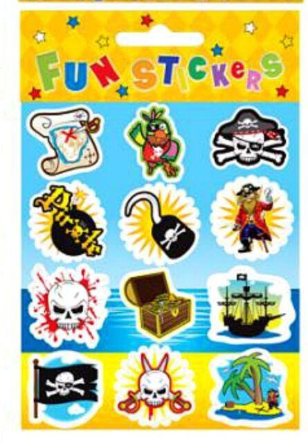 6 - 36 PIRATE STICKERS Party bag loot filler toy reward stocking children kids
