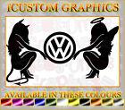 vw beetle golf polo bora devil angel girls car logo vinyl sticker novelty decals