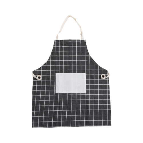 Cook Geometrical Figure Simple Style Cotton Linen Apron Fashion Kitchen Apron SC