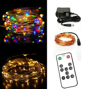 Led String Lights Dimmable : Dimmable Led String Lights 33FT 100LED Copper Wire Starry String Twinkle Lights eBay