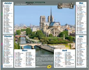 Calendrier 2021 Notre Dame de Paris La Poste / 2021 Calendar Notre