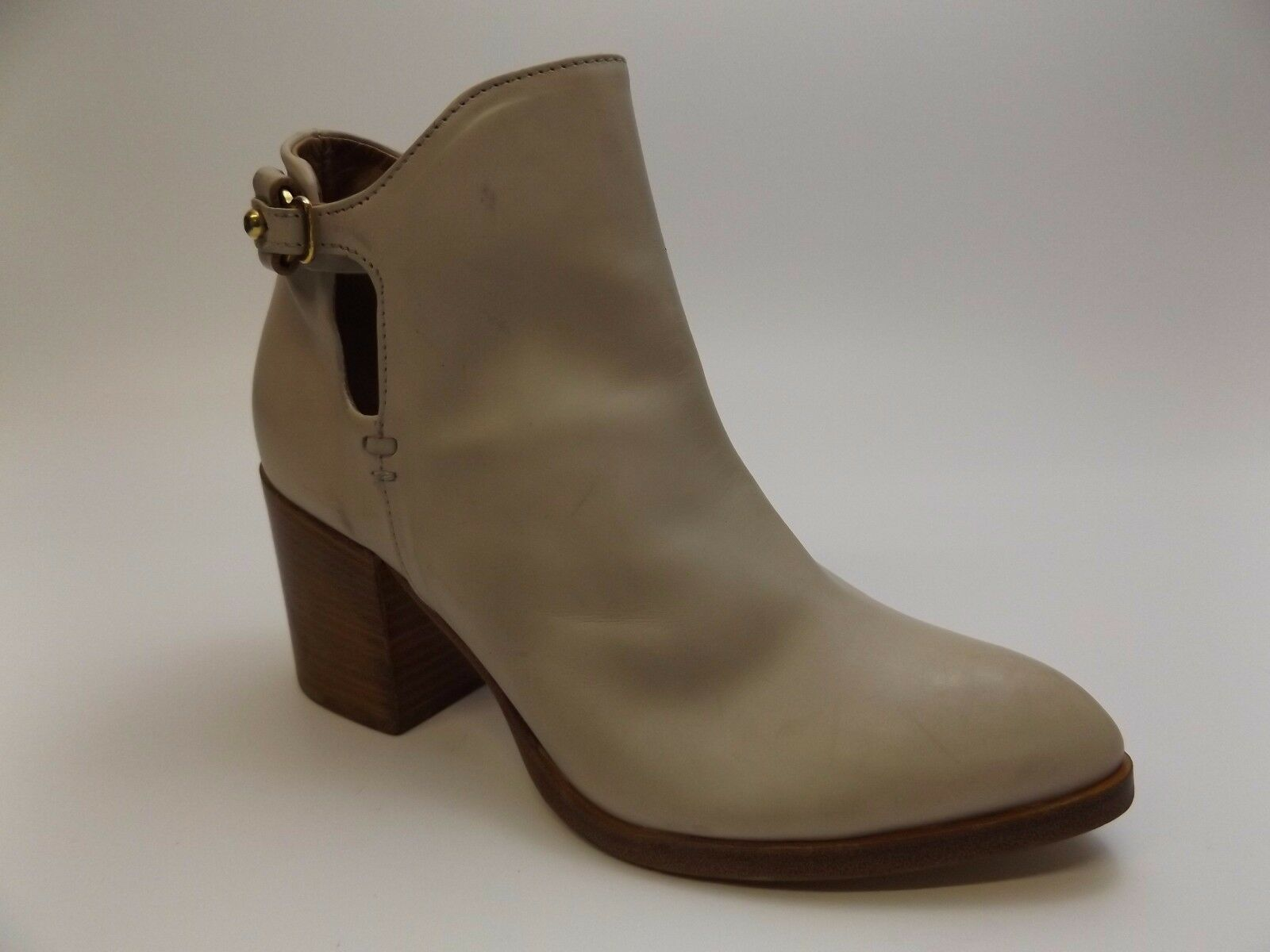 Alberto Fermani Women's BONE Leather Ankle Booties shoes Size 5.5 M DISPLAY 1748
