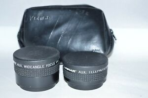 Chinar-Aux-Lens-Set-Telephoto-amp-Wide-Angle-w-Caps-Case-Made-Japan-LN-22