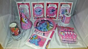 My-Little-Pony-Party-in-a-box-for-8-Hats-plates-cups-and-much-more-NOS