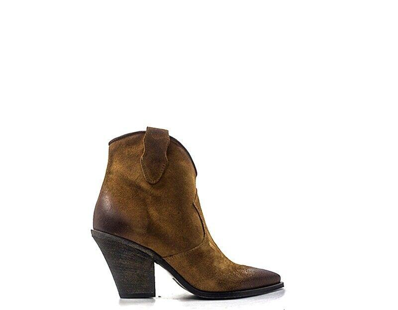 Aimable Chaussures Rebecca Van Dik Tronchetti En Daim Ske03-cu Haute RéSilience