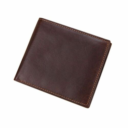 Men/'s Cowhide Leather RFID blocking Credit Card Holder Portefeuille Porte-monnaie Embrayage