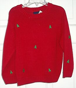 CARDINAL-RED-CHRISTMAS-PULLOVER-SWEATER-by-J-Khaki-Kids-ramie-blend-lt-sz-3T-gt