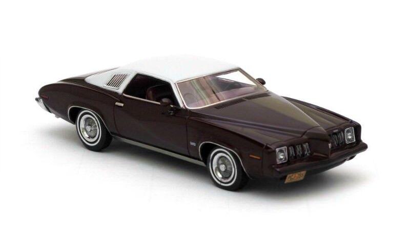 Pontiac Grand Am 2-d Coupe rosso grigio Metálico 1973, coches modelo 1 43