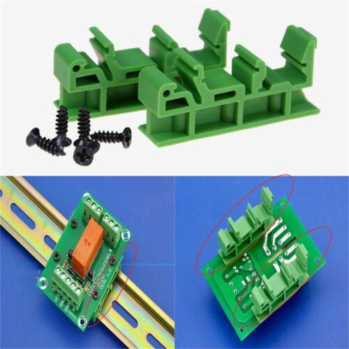 PCB DRG-01//02//03//04 DIN Rail Adapters Circuit Mounting Board Holder Bracket New