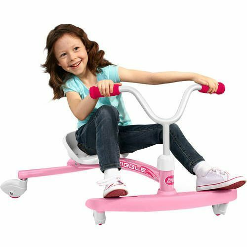 Girls Toddlers Kids Radio Flyer Ziggle Ride Ride Ride On Adjustable Seat Pink Steel fun 710e52