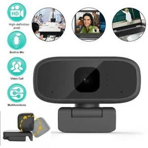 HD-1080P-Webcam-Rotatable-Web-Cam-Camera-Microphone-Computer-PC-Laptop-Video