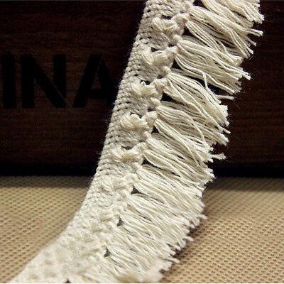 Cotton Crochet Lace Trim Fringe Tassel Wedding Dress Cloth Sewing Craft 5 Yards