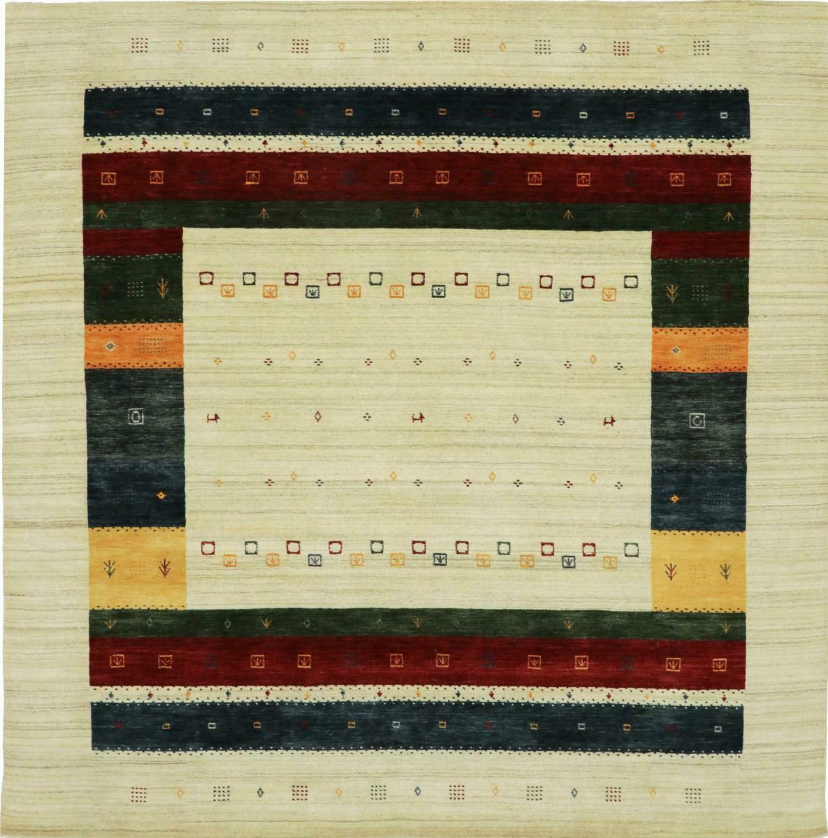Loom gabbeh lori 253x250 Orient alfombra alfombra forma cuadrada a mano