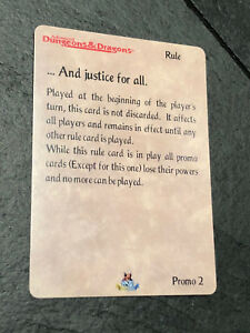 Spellfire Colombia Promo 2 And Justice For All Bsw D D Card