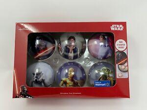 Details About Set Of 6 Hallmark Disney Star Wars Tin Christmas Ornaments Walmart Exclusive New