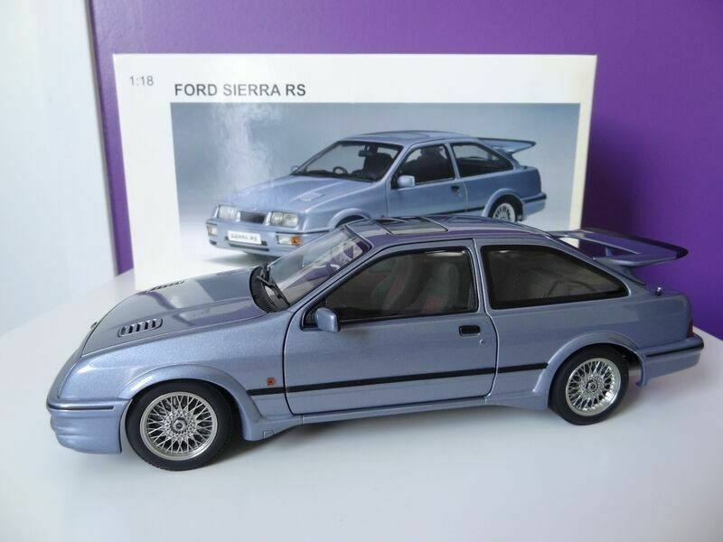 Autoart 1 18 ford sierra rs cosworth moonstone bluee
