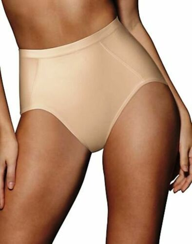 New Hanes Women/'s Seamles Shaping Brief Style HW04 In White Black and Nude
