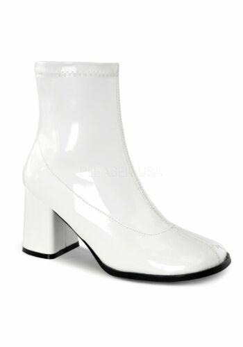 Side Zip Funtasma GOGO-150 Women/'s 3 Inch Block Heel Ankle Gogo Boot