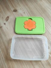 TUPPERWARE Feuchtt/ücherbox Kinder 650 ml flach limette erdbeerrot Baby Box 31253