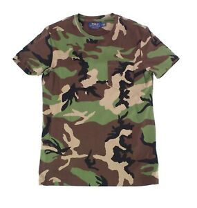 Polo-Ralph-Lauren-Mens-T-Shirt-Green-Size-Large-L-Camouflage-Tee-59-077