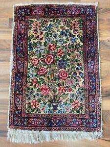✔ Kirman | 49 x 70 | Handgeknüpft | Orientteppich | Carpet | Rug