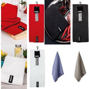 5 Colours NEW Ladelle Microfibre Tea Towel Drying Glass Cloth Lint Streak Free