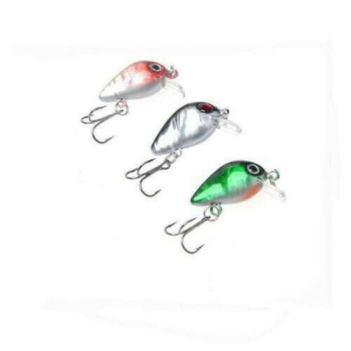 Details about  /USA Lots Of 10 Fishing Lures Mini Minnow Fish Bass Tackle Hooks Baits Crankbait
