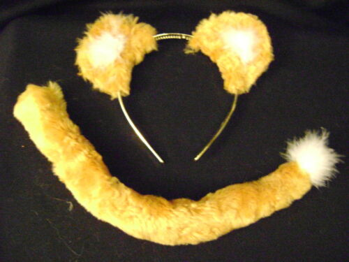 Simba Lion Ears And Tail Set Lion King Bright Gold Faux Fur Instant Fancy Dress