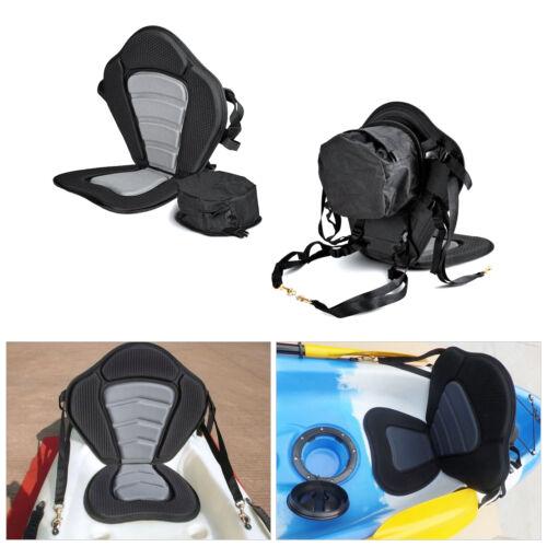 Adjustable Padded Kayak Seat Backrest Canoe Sit On Top with Detachable Back Bag