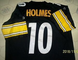 size 40 37b9d 092f6 Details about Reebok Pittsburgh Steelers Jersey Santonio Holmes #10 Adult  XL Length +2. NICE!!