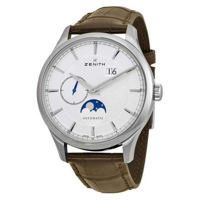Zenith Captain Moonphase Silver Dial Automatic Mens Watch 03214369101C498