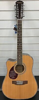 Freshman FA1DCE12LH Left Handed 12 String Dreadnought Electro Acoustic Guitar
