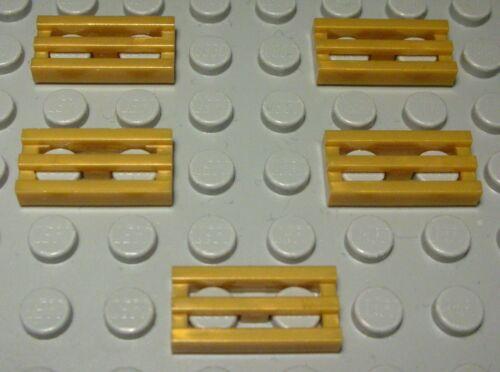 158 # Lego Gitter Fliese 1x2 Gold 5 Stück