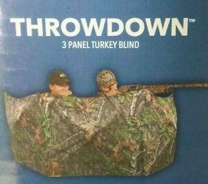 Ameristep Throwdown 3 Panel Mossy Oak Obsession Blind Turkey Deer Duck Hunting