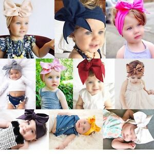 10Pcs-Cute-Kids-Girl-Baby-Toddler-Bow-Headband-Hair-Band-Accessories-Headwear-US