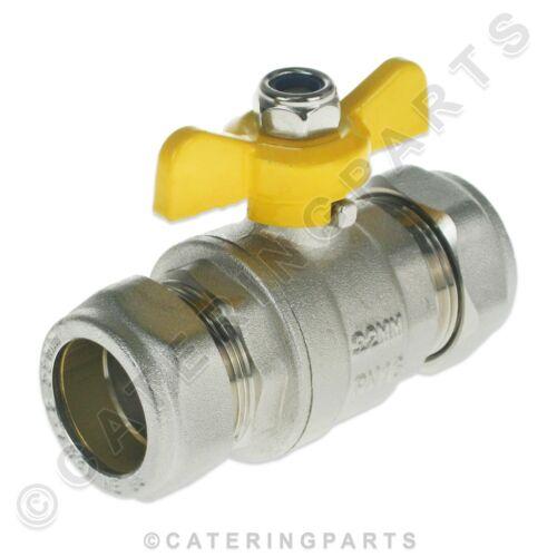 Schmetterling Absperrventil Isolator 22mm Kompression Armaturen Nat Gas LPG