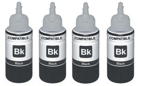 4 X Schwarz Ecotanks Nicht-Oem Alternative für Epson 102 ET-2700 2750 3700 3750