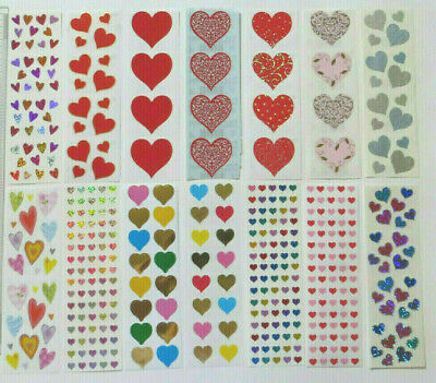GLIMMER HEARTS Reflections 1996 ..... Stickers Free Shipping Mrs Grossman ..