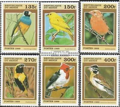 Never Hinged 1999 Small Birds Out All World Good For Antipyretic And Throat Soother Benin 1119-1124 Unmounted Mint Topical Stamps