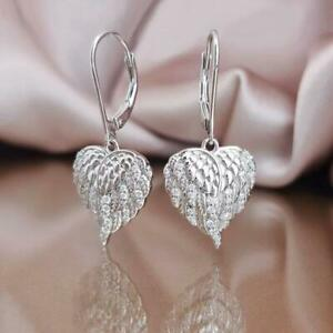 Gorgeous-925-Silver-Drop-Earrings-for-Women-White-Sapphire-Jewelry-A-Pair-set