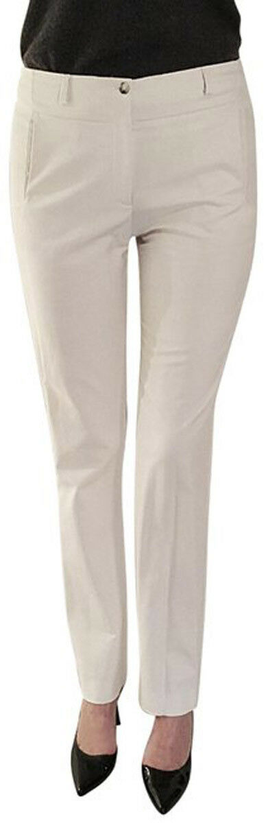 DIVINA- ITALY Skinny Stretchy Fashion Pants Trousers Off-White Womens Sz-9 10