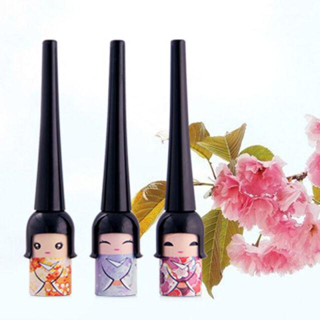 Black  Doll Eyeliner Liquid Eye Liner Pen Pencil Make Up Cosmetic Waterproof