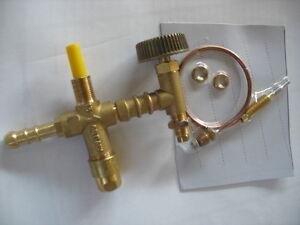 valvola termocoppia con rubinetto per fornellone in ghisa
