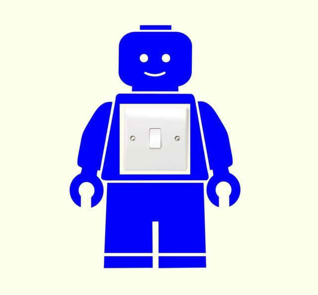 LEGO MAN LIGHT SWITCH STICKER Childrens Bedroom Kids Wall Art, Movie, Funny NEW